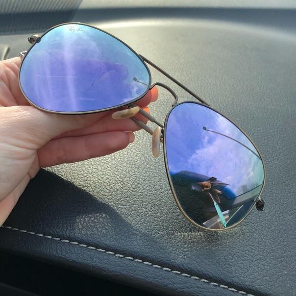 Lilac Mirrored Aviator Ray-Ban sunglasses